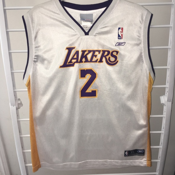 hot sales ed635 4b834 Vintage Los Angeles Lakers Jersey
